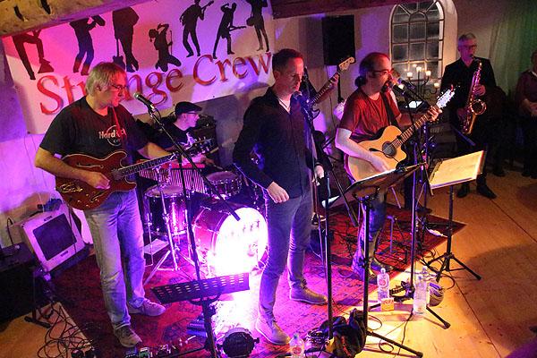 Die Band Strange Crew in der Emtinghausen Mühle